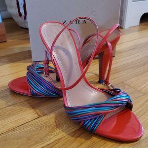 Zara Multicolored Strappy Sandals